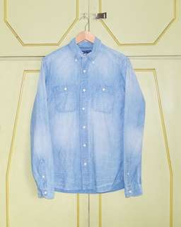 Authentic Ralph Lauren Polo Chambray LS Button Down