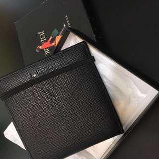 Porter International 黑色皮革銀包