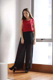 Long Chiffon Pants
