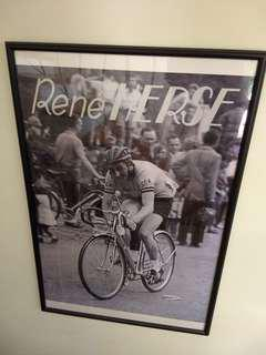 Rene Herse poster, framed, 97 x 65 cm
