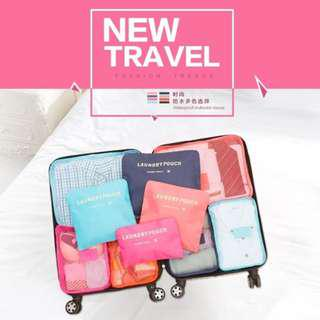 travel Bag in bag Organizer 6 in 1/ korean travel bag /organizer pouch