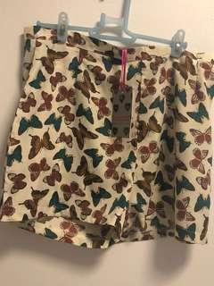 New Boohoo Maisy Butterfly Print Shorts