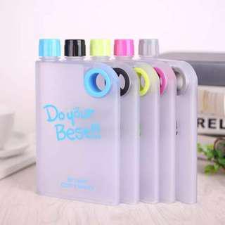 New Memo Bottle Do Your Best Doff / Botol Minum Plastik MemoBottle - Hitam