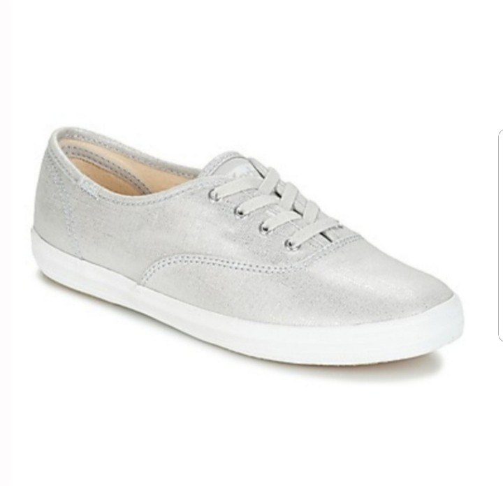 62a6f3c3b7127 100% Authentic) Keds Champion Metallic Linen Sneaker in Silver (37.5 ...