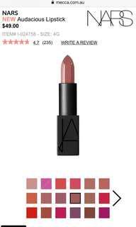 Bnib NARS Audacious Lipstick Rouge A Levres 4.2g Apoline