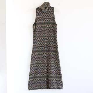 Sinequanone evening dress. XS golden geometric