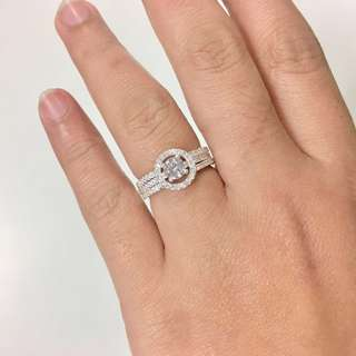 Smythe & Co. Silver Engagement Ring
