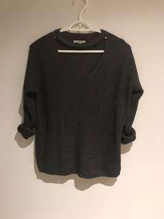 American eagle grey sweater size small