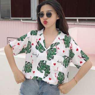 🚚 (INSTOCK) Palm Flamingo Shirt