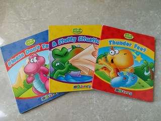 兒童恐龍英文故事書3本