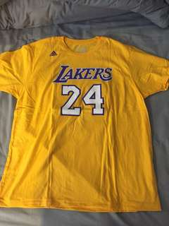 T Shirt Adidas Lakers Bryant #24 Black Mamba