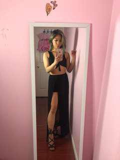Black top/skirt set