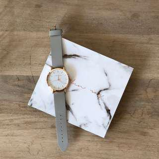 Reuben Ray Rose Gold Grey Strap watch