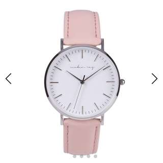 NEW Reuben Ray Silver Pink watch
