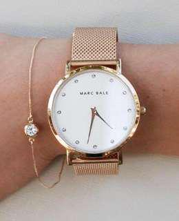 NEW Marc Bale Rose Gold Mesh watch