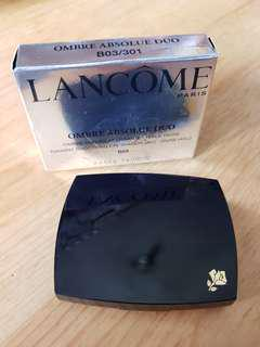 Lancome eye shadow眼影 B03 blue moon深淺藍色