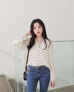 BLOUSE / Polkadot blouse