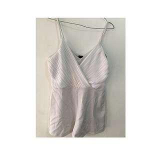 White Jumpsuit short