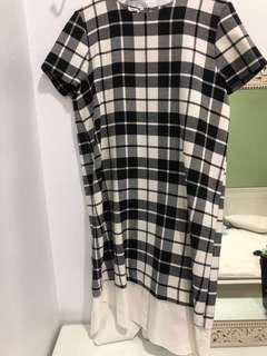 ZARA checkered dress size S