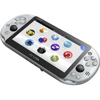 (NEW - FW 3.65) PlayStation PS Vita Slim - Silver (Japan Only Colorway)