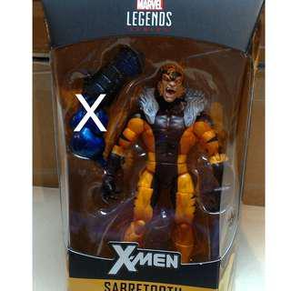 "6"" Marvel Legends Apocalypse Wave X-Men Sabretooth Figure, MIB No BAF"