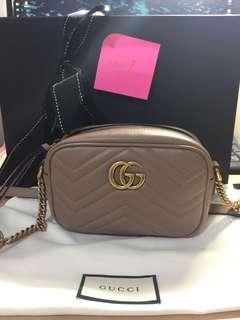 Gucci Mini Marmont Camera Bag Nude [On Hold]