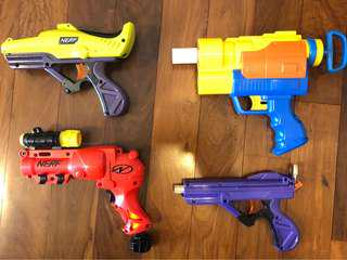 Assorted Nerf Modified and Stock Rare pistols