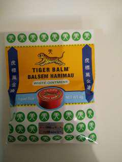 Tiger balm WHITE travel size 4gr exp. Sept 2021