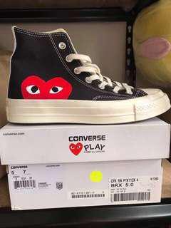 Commes de Garcons- Converse. Black. Brand New. Authentic.