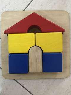 Blue Ribbon Tray Puzzle - House