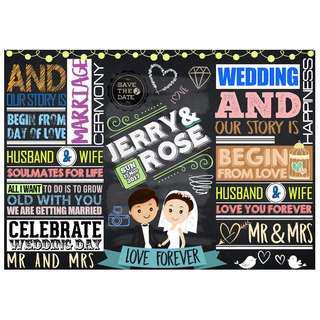 Customized Wedding Chalkboard Design: Stylish European Feel (Design 11)