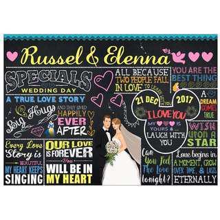 Customized Wedding Chalkboard Design: Disney Fantasy (Design 4)