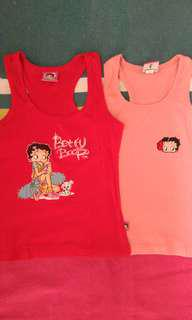Girls Betty Boop tank top (2pcs)