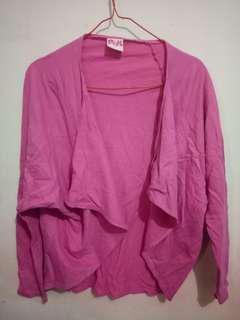Pink cardigan bat wing