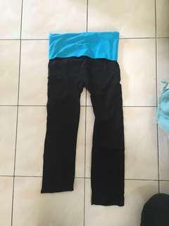 Yoga pants quarter cut