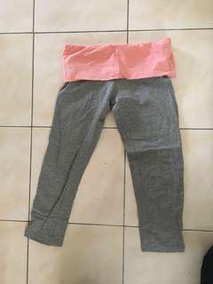 Yoga pants quarter cut f21