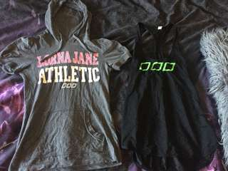 Lorna Jane tops worn once size small $20 each or both for $35