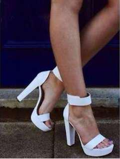 Windsor Smith Malibu White heels