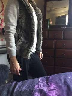 Fur jacket never worn size 6