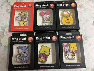 ✨買二送一 小熊維尼 豬仔 e yo 手機指環 手機扣 Ring Stent winnie the pooh
