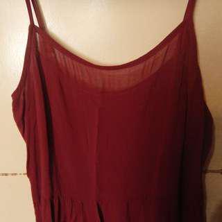 H&M (12) Maroon strap dress