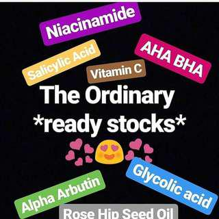 READY STOCK THE CHEAPEST IN TOWN. DECIEM THE ORDINARY SKINCARE READY STOCK niacinamide aha bha vitamin c ascorbyl rose hip seed oil glycolic lactic alpha arbutin acid salicylic azelaic buffet HA hyaluronic silicone primer  glucoside suspension