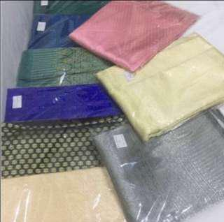 Thai silk songket and plain kain pasang