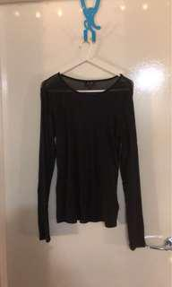 Bardot sheer top