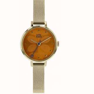 Orla Kiely UK Watch Steel  ( Mesh Orange Sundial )