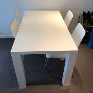 FREE!!! Dinning Table + 4 Chairs