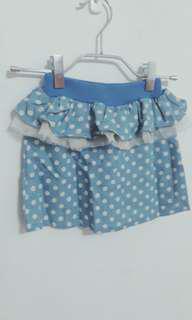 🚚 點點荷葉造型小短裙