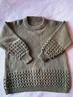 Wool blend thick vintage jumper