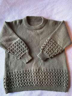 Wool blend thick vintage jumper