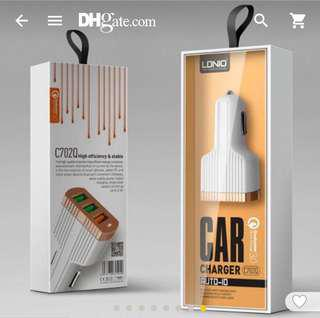 LDNIO C702Q Car-Charger Quick Charge 3.0 3 USB Car Charger